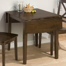 Wooden Dining Table With Drop Down Leaf Cherry Brown