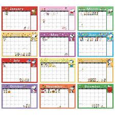 2019 2020 Peanuts Calendar Pad Printable Planner Pages