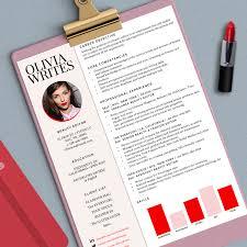 Girly Resume Templates SALE Modern Feminine Résumé Template Custom RésuméCV 4
