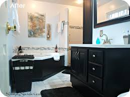 gallery black white master bath
