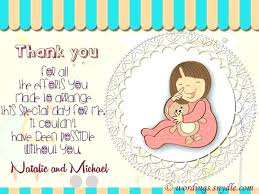 Baby Card Notes Baby Shower Thank You Card Message Progressivedemsocnc Org