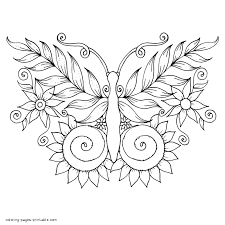 Your tots and preschool students will love how simple these butterflies are to color in. Printable Butterfly Coloring Pages For Adults Coloring Pages Printable Com