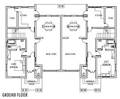 Half Duplex House Plans  Homes Zone4 Bedroom Duplex Floor Plans