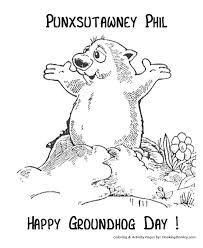 Small Picture Groundhog Day Coloring Pages Punxsutawney Phil Groundhog