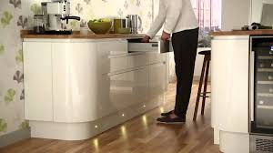 Plinth Lighting For Kitchens Led Circular Plinth Lights From Howdens Joinery Youtube