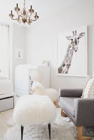 Modern All White Nursery with a POP of Pink