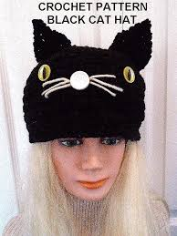 Cat Hat Crochet Pattern Beauteous CROCHET PATTERN BLACK CAT HAT Halloween Hat All Sizes Newborn To