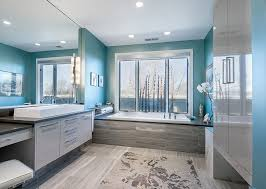 luxury contemporary master bathrooms. Modren Bathrooms Contemporary Master Bathroom With Slate Flooring And Enclosure To Luxury Master Bathrooms Y