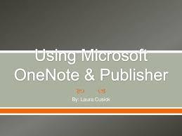 Ms Publisher Lesson Plans Using Microsoft Publisher Onenote