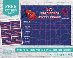 Marvel Reward Chart Printable Digital Marvel Ultimate Spiderman Potty Training Chart Free