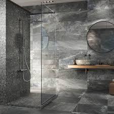 novus grey stone effect wall and floor