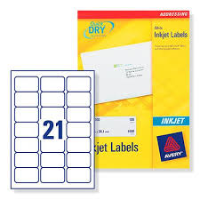 A word label template allows you to insert information/images into cells sized and formatted to corresponded with your sheets of labels so that when you print your labels, the information and design is aligned correctly. Avery J8160 Inkjet Labels 21 Labels Per Page 63 5x38 1mm Ref J8160 100 100 Sheets J8160 100 05014702176296 Winters Office Supplies Ltd