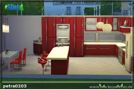 sims 4 kitchen design. blackys sims 4 zoo modern red kitchen by petra0203 design