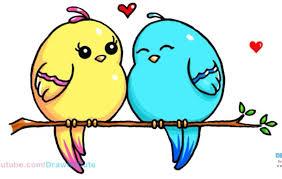 cute love bird drawing.  Bird Love Birds On Cute Bird Drawing S
