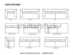 couch drawing top view. sofa top view vector couch drawing e