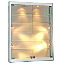 small display case glass display cabinet wall mounted w wall mount glass display cabinet led of