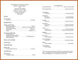program template for wedding wedding programs template sop example