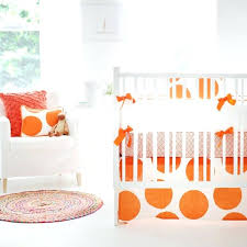 orange crib bedding set big dots clementine crib bedding set a zoom orange crib bedding