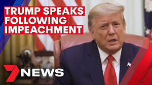 Donald Trump issues video statement following impeachment