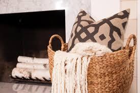traditional style ideas of room storage with wicker storage baskets birch wood logs with wicker