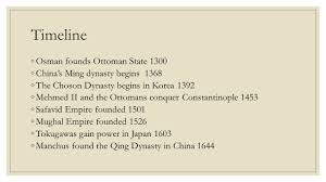 Mughal Empire Timeline Chart New Asian Empires Wrap Up And Review Do Now Years Of Power
