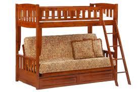 Futon Bunk Bed Cherry | Cinnamon Twin Full Kids Bunk | The Futon Shop