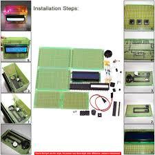 kkmoon diy 1602 lcd calendar penholder clock set electronic clock kit buzz alarm temperature display electronic