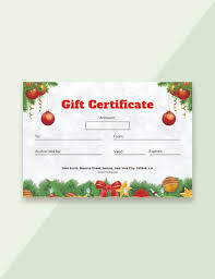 21 Christmas Gift Certificate Templates Psd Free Premium