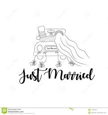 Just Married Wedding Couple Illustration Stock Vector Illustration