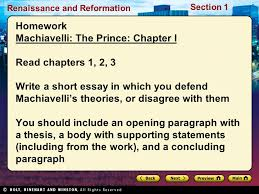 renaissance and reformation section renaissance and reformation 33 renaissance and reformation section 1 homework machiavelli the prince