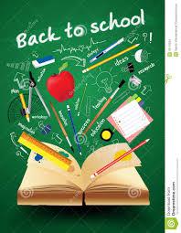 School Book Design Ideas Vector Book With Back To School Creative Concept Stock