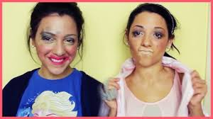niki and gabi beauty blindfolded makeup challenge outfit challenge clip fail