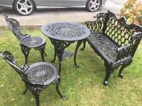garden table and chairs for sale in leeds. cast iron garden bench table \u0026 chairs and for sale in leeds