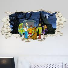 scooby doo gang in wall kids boy bedroom decal art sticker gift new