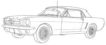 mustang coloring sheet ford mustang coloring pages free