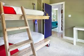 purple house contemporary gender neutral kids room idea in austin with green walls and carpet bedroom living spaces small