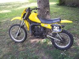 yamaha 80cc dirt bike. 1982 yamaha yz80 yellow 2 stroke 80cc dirt bike