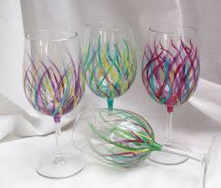Wine Glass Decorating Designs 100 Painted Wine Glass Designs 7