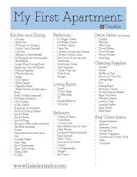 New Apartment Checklist My First Apartment Free Printable Go Check It Out Http 17