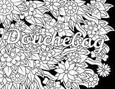 Small Picture Swear Words Coloring Pages Adult fucking color Pinterest
