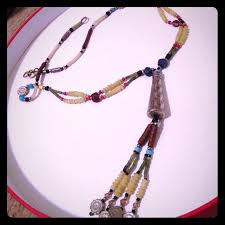 central asian necklace with semi precious stones