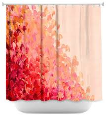 teal and coral shower curtain. shower curtain unique from dianoche designs - creation in color coral pink contemporary-shower- teal and u