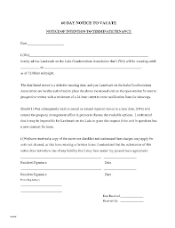 Day Notice Vacate Template Moving Out Letter Office To Of