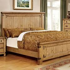 Amazon.com: Pioneer Country Style Weathered Elm Finish King Size 6 ...