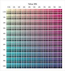 Paint Colour Mixing Chart Pdf Free 8 Sample Cmyk Color Chart Templates In Pdf