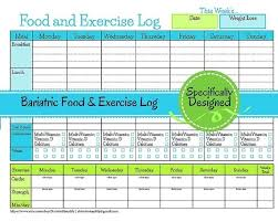 Food And Exercise Journal Template Printable Journals For Weight