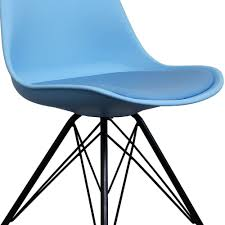 plastic metal chairs. Buy Eiffel Inspired Blue Plastic Dining Chair With Black Metal Set Chairs A