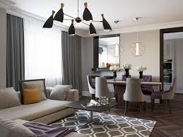 art deco living room. Beige L Shaped Sofa With Black Chandelier For Impressive Art Deco Living Room Ideas Grey Curtain A