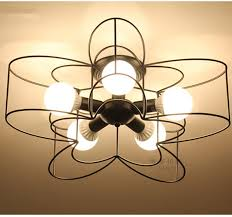 image of semi flush mount chandelier bulb