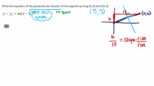 write the equation of a perpendicular bisector of a segment